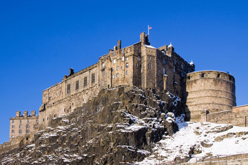 Edinburgh Castle Winter View