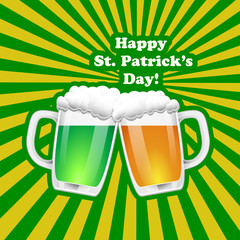St. Patrick Day background. Vector illuatration.