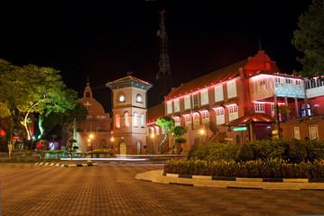 melaka malacca malaysia square with dutch colonial architecture
