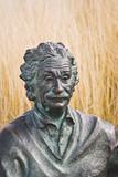 Escultura de Albert Einstein poster