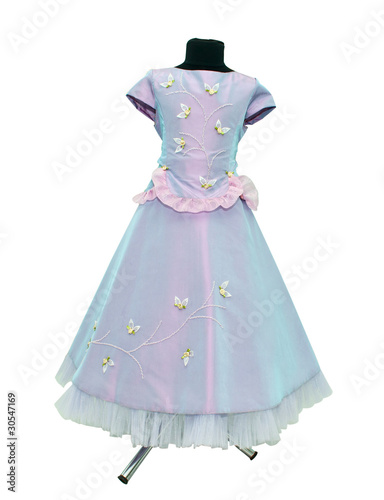 Children's dress on a mannequin