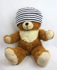 ours brun avec bonnet