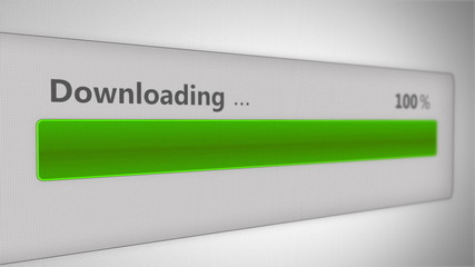 Downloading bar - Green