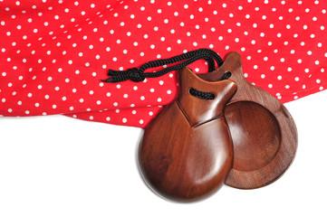 castanets and flamenco dress