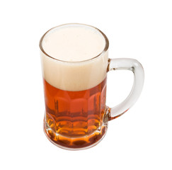 beer mug on a white background