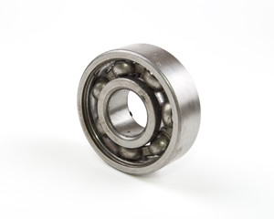 metal round bearing on a white background