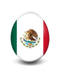 Osterei-Flagge Mexiko