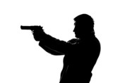 Silhouette of shooting man