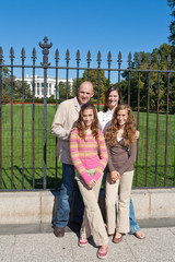 Family Visiting White House Tourists Washington DC