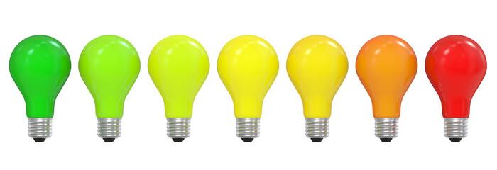 Energy efficiency concept with light bulbs