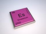 Einsteinium (Es) chemical element of the periodic table