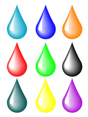 Multicolored drops for your design