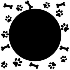 Paw print border for your design