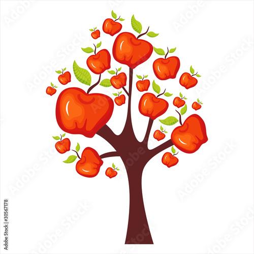 卡通苹果树图片大全