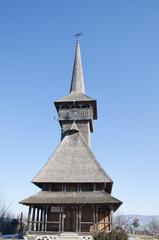 Small wooden church in rural Romania