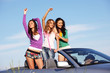 friends in car