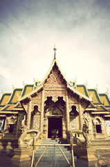 thai temple old page vinage