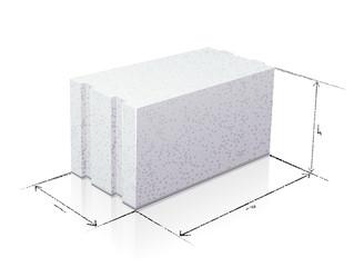 Dimensions d'un parpaing de béton cellulaire (reflet)