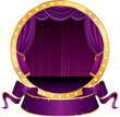 purple circus circle