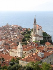 Piran panoramic view