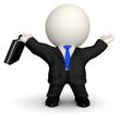 3D successful business man