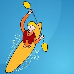 Rowing Kayak Man