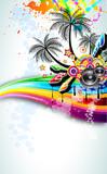 Fototapety Tropical Disco Dance Background