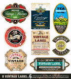Etikety Vintage Kolekce-Set 6