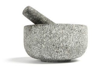 Pestle and Mortar, isolated on white.