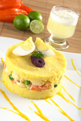 Traditional Peruvian dish called Causa
