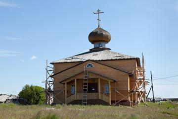 Реставрация Успенской деревянной церкви в селе Варзуга
