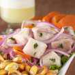 Peruvian-style ceviche made out of raw dogfish