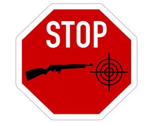 Stopp Fadenkreuz Gewehr