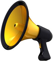 Megaphone support blog announce. Loudspeaker classic