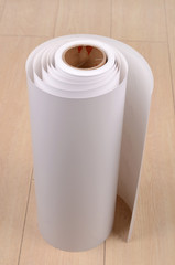 Roll paper on floor
