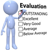 Manager check business quality evaluation report poster