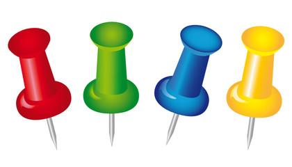 Farbige Pins