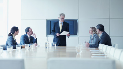 Business people in meeting in conference room