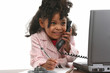 Little Business Woman on Phone