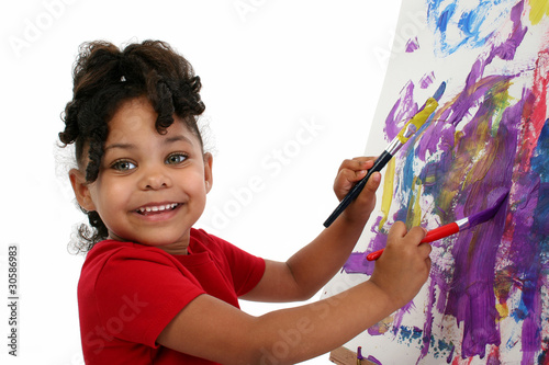 Beautiful Little Girl Painting