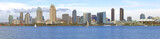 San Diego skyline panorama, California.