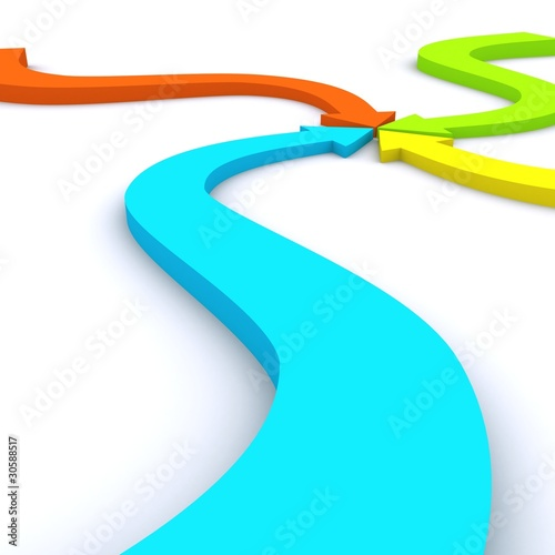 Pointing Colorful Arrows