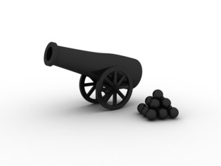 Black Cannon With Black Balls