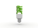 Green Electrical Bulb