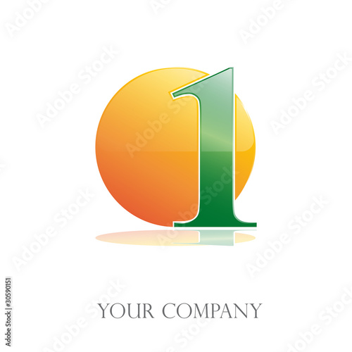 Logo number one, the sun # Vector