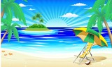 Spiaggia e Isola Tropicale-Exotic Beach and Island-2-Vector