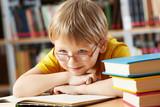 Fototapety Boy in library