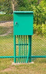 Electricity distribution box in the sport field.
