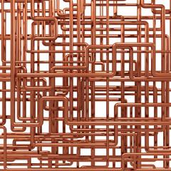 3d Copper pipework