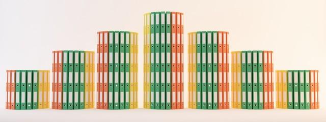 faldoni quaderni archivi schedari render 3d